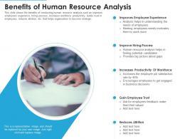Benefits Of Human Resource Analysis