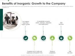 Benefits Of Inorganic Growth To The Company Routes To Inorganic Growth Ppt Rules
