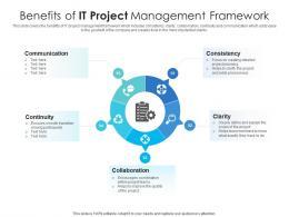 Benefits Of IT Project Management Framework