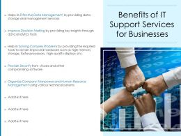 Benefits Of IT Support Services For Businesses