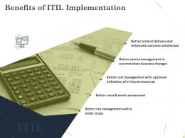 Benefits Of ITIL Implementation Ppt Powerpoint Presentation Infographic Template Clipart