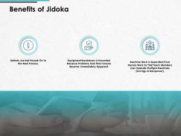 Benefits Of Jidoka Communication Gear Ppt Powerpoint Presentation Gallery Show