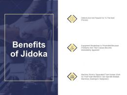 Benefits Of Jidoka Machine Work Ppt Powerpoint Presentation Diagram Ppt