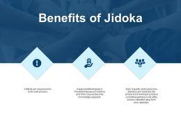 Benefits Of Jidoka Portfolio And Gears Ppt Powerpoint Presentation File Files