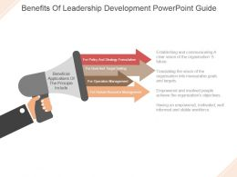 Benefits Of Leadership Development Powerpoint Guide