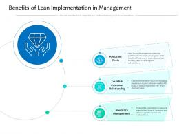 Benefits Of Lean Implementation In Management