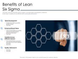 Benefits Of Lean Six Sigma