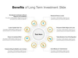 Benefits Of Long Term Investment Slide
