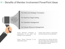 Benefits Of Member Involvement Powerpoint Ideas