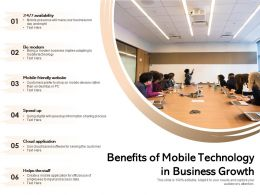 Benefits Of Mobile Technology In Business Growth