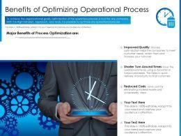 Benefits Of Optimizing Operational Process