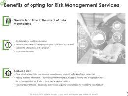 Benefits Of Opting For Risk Management Services Ppt Slides Portfolio