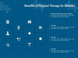 Benefits Of Physical Therapy For Athletes Ppt Powerpoint Presentation File Layout