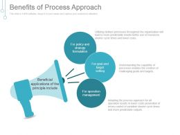 Benefits Of Process Approach Powerpoint Templates