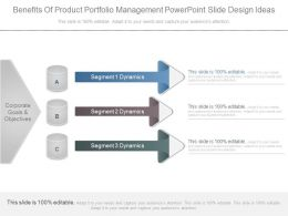 Benefits Of Product Portfolio Management Powerpoint Slide Design Ideas