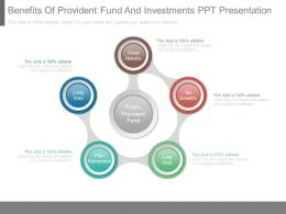Benefits Of Provident Fund And Investments Ppt Presentation