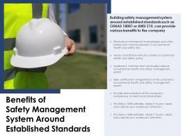 Benefits Of Safety Management System Around Established Standards