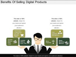 Benefits Of Selling Digital Products Ppt Slide