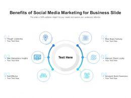 Benefits Of Social Media Marketing For Business Slide