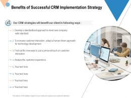 Benefits Of Successful CRM Implementation Strategy Ppt Powerpoint Presentation