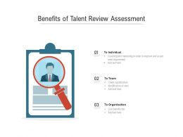 Benefits Of Talent Review Assessment