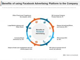 Benefits Of Using Facebook Advertising Platform To The Company Ppt Template