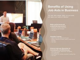 Benefits Of Using Job Aids In Business