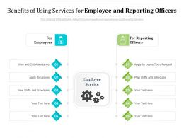 Benefits Of Using Services For Employee And Reporting Officers