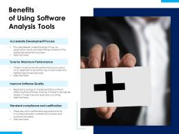 Benefits Of Using Software Analysis Tools
