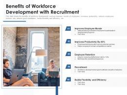 Benefits Of Workforce Development With Recruitment