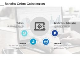 Benefits Online Collaboration Ppt Powerpoint Presentation Icon Model Cpb
