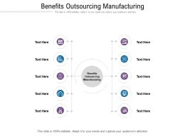 Benefits Outsourcing Manufacturing Ppt Powerpoint Presentation Infographic Template Clipart Images Cpb