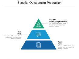 Benefits Outsourcing Production Ppt Powerpoint Presentation Gallery Graphic Images Cpb