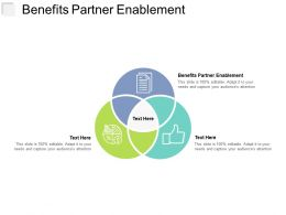 Benefits Partner Enablement Ppt Powerpoint Presentation Model Designs Cpb