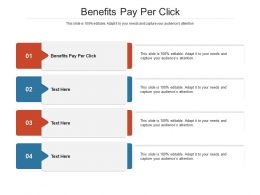 Benefits Pay Per Click Ppt Powerpoint Presentation Show Summary Cpb