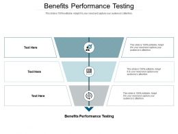 Benefits Performance Testing Ppt Powerpoint Presentation Slides Icon Cpb