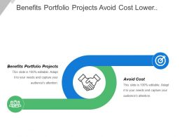 Benefits Portfolio Projects Avoid Cost Lower Cost Project Revenue