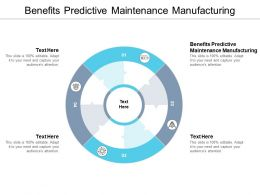 Benefits Predictive Maintenance Manufacturing Ppt Powerpoint Presentation Inspiration Cpb