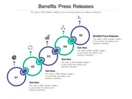 Benefits Press Releases Ppt Powerpoint Presentation Ideas Brochure Cpb