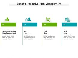 Benefits Proactive Risk Management Ppt Powerpoint Presentation Inspiration Show Cpb