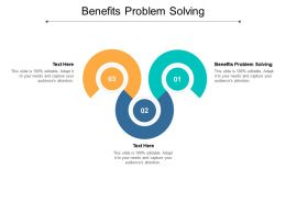 Benefits Problem Solving Ppt Powerpoint Presentation Inspiration Icon Cpb