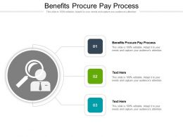 Benefits Procure Pay Process Ppt Powerpoint Presentation Icon Example Cpb