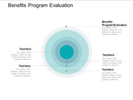 Benefits Program Evaluation Ppt Powerpoint Presentation Icon Design Ideas Cpb