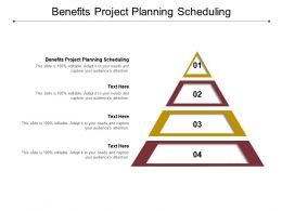 Benefits Project Planning Scheduling Ppt Powerpoint Presentation Inspiration Cpb