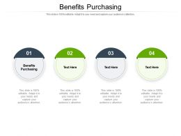 Benefits Purchasing Ppt Powerpoint Presentation Infographics Shapes Cpb