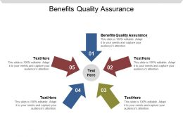 Benefits Quality Assurance Ppt Powerpoint Presentation Professional Format Cpb