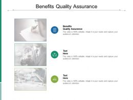 Benefits Quality Assurance Ppt Powerpoint Presentation Summary Maker Cpb