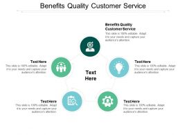 Benefits Quality Customer Service Ppt Powerpoint Presentation Slides Designs Download Cpb
