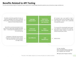 Benefits Related To API Testing Enhanced Ppt Powerpoint Presentation Show