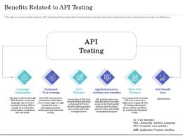 Benefits Related To API Testing Ppt Powerpoint Presentation Diagram